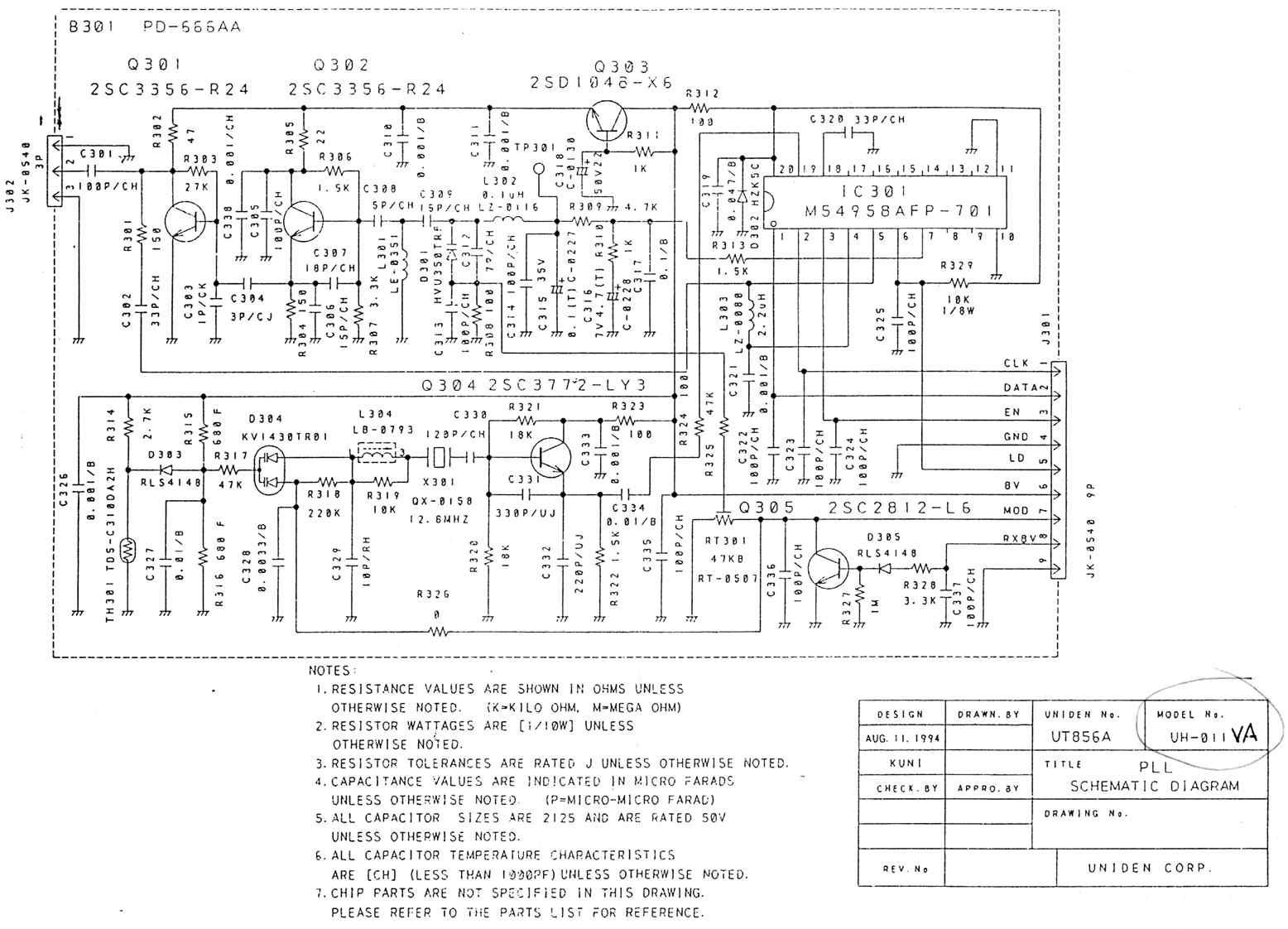 uniden uh-011 scan mod