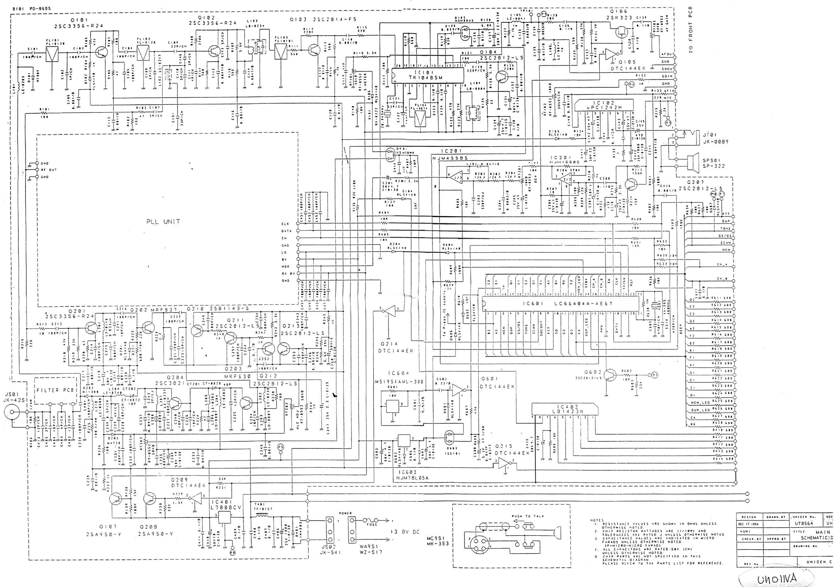 Uniden Uh 011 Scan Mod Ocau Wiki Main Pcb Schematic Diagram